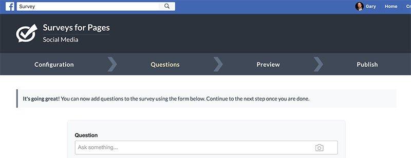 add a survey to Facebook