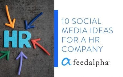 10 Social Media Ideas For A HR Company