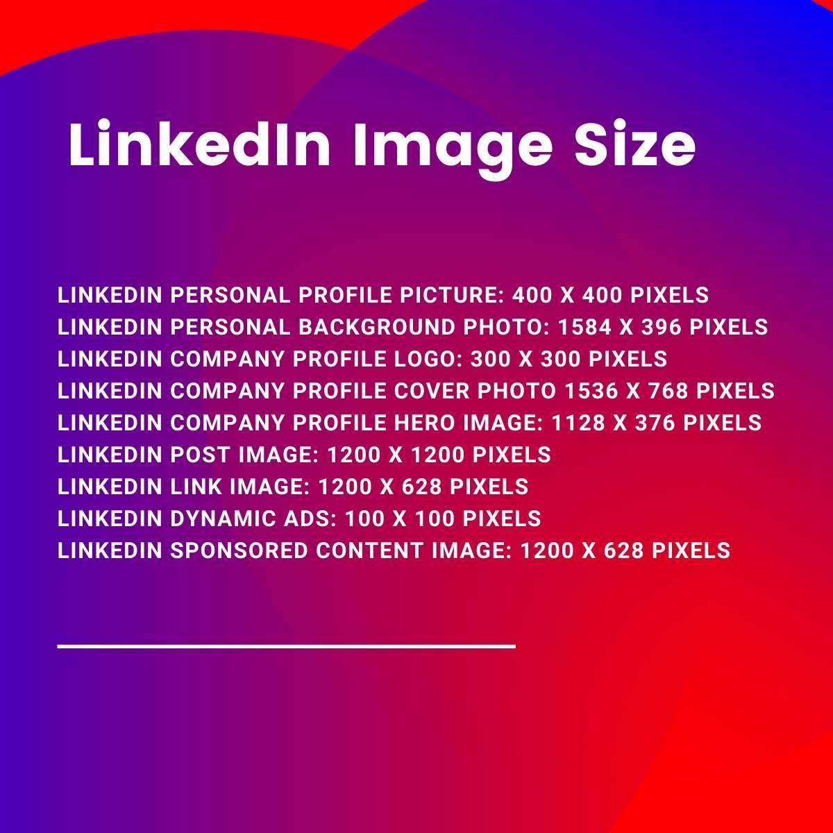 LinkedIn image size