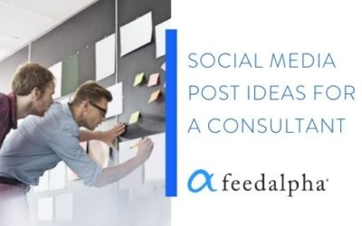 6 Post Ideas For A Consultant