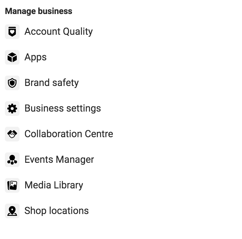 Manage business on Facebook