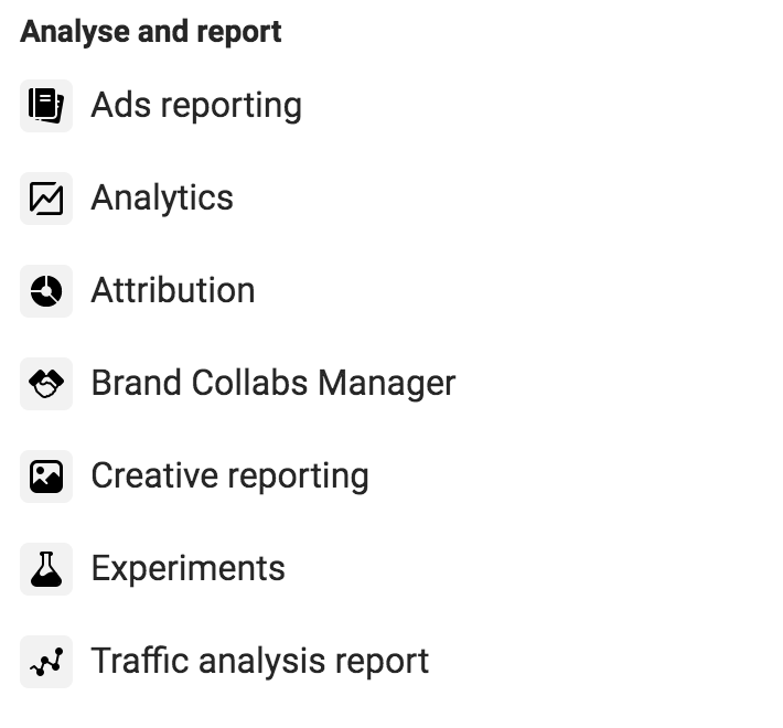 analyse and report facebook
