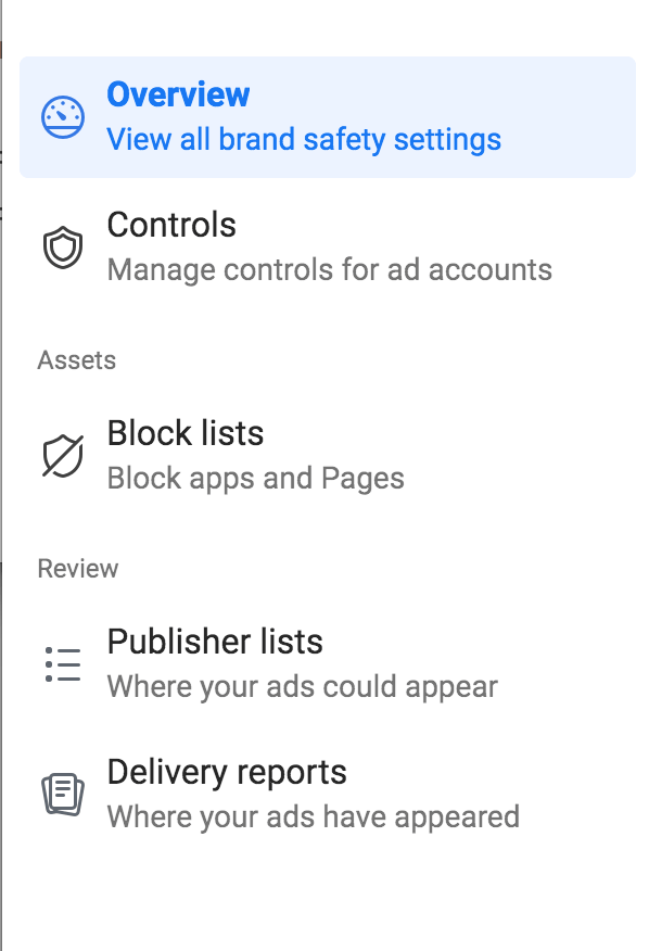 Facebook business manager controls