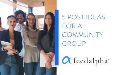 5 Post Ideas For A Community Group