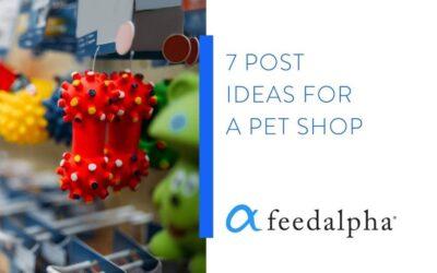 7 Post Ideas For A Pet Shop